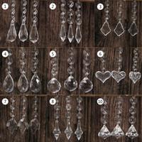 10pcs acrilico perline di cristallo a forma di goccia ghirlanda lampadario appeso decorazione del partito decorazione di cerimonia nuziale centrotavola per tavoli c0125