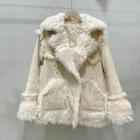 Natural Real Sheep Fur Coat Winter Clothes Women Short Style...