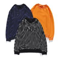 Herren Hoodies Crew Neck Pullover Print Sweatshirt Baumwolle Gestrickte Pullover Männliche Frauen Paar Hoodie Paris Mode Swearshirt 3Farbe