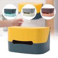 주방 티슈 상자 냅킨 홀더 종이 수건을위한 냅킨 티슈 디스펜서 벽 마운트 컨테이너 wipes1