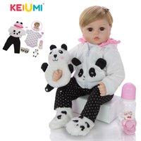 Keiumi New Reborn Baby Dolls Panno Body Piewed Pelice 48 cm Lifelike Girl Simulazione Bambino Bambola Giocattoli Bambini Bambini Bambini Bambini Regali di compleanno LJ201031