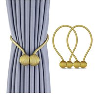 Gardin Magnetiska bollar Pärla Modern Enkelt slips Backs Rope Nya Dekorativa krokar Hållare Tieback Living Room Accesso Jllzfo