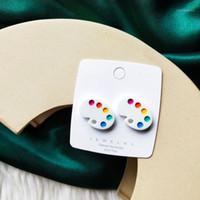 Goujon 2021 Boucles d'oreilles tendance bijoux pour femmes palette d'été art dessin animé femme cadeaux1