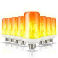 LED Flamme Lampe E27 E26 E14 E12 B22 Glühlampe Flamme Effekt Feuer Lampen Flickering Emulation 3W 5W 7W 9W-Dekor-LED-Lampe AC85-265V