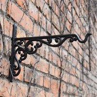 الحديد الزهر شماعات الحديد المطاوع حديقة هوك زهرة الأواني سلة جدار شماعات قوس مع توسيع المسمار