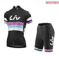 Liv Verão Pro Team Womens Respirável Ciclismo Jersey Set Short Manga Road Racing Outfits Outdoor Sports Wear S21020505