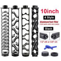 10Inch 1 / 2-28 5/8-24 Filtre Aluminium Seule Noyau Solvant Spirale Augmentation des filtres à carburant de voiture pour NAPA 4003 WIX 24003