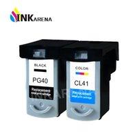 캐논 PG40 CL41 블랙 컬러를 들어 캐논 PIXMA MP160 MP140 MP450 MX300 MX310 IP1600 IP1900에 대한 INKARENA PG40 CL41 잉크 카트리지