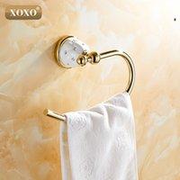 XOXO 수건 반지 단단한 황동 구리 황금 완성 욕실 액세서리 제품, 수건 홀더, 수건 바 10080GT T200605