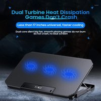 """Tablet PC Soportes Ajustable USB Slim Ordenador portátil Radiador Sellado con hielo Soporte de elevación refrigerado por aire Ordenador Negro Enfriador Cooling 12 """"-17"""""""