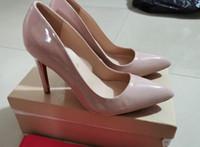 Top Qualität 2021 Frauen Designer Rote Bottoms Hochzeit High Heels Sexy Spitzsohle Sohle 8 cm 10 cm 12cm Pumps Kommen Sie mit logo schuhe 688xx525c #