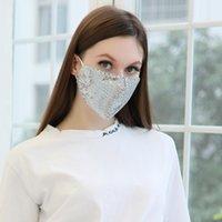 Masques de Noël Mode bling bling Paillettes Masque de protection anti-poussière Masques bouche lavable Masque réutilisable femmes masque facial gros bouche
