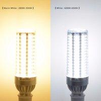 High Power LED Mısır Işık 25W 35W 50W Mum Ampul 110V E26 / E27 LED Ampul Alüminyum Fan Hayır Flicker Işık Hızlı teslimat Soğutma