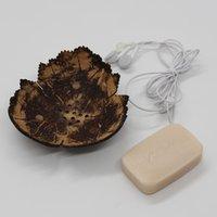 Pratos de sabão criativas da Tailândia Retro Banho de madeira sabão de coco Pratos Forma Sabão Titular DIY Artesanato GGB2421