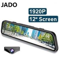 سيارة DVR DVRS 2021 جادو G840S DASHCAM FHD المزدوج 1296P 12 بوصة عدسة الكاميرا القيادة فيديو مسجل داش كاميرا 24 ساعة كاميرا الرؤية الخلفية 1