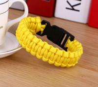 Bransoletka dla kobiet 19 Kolory Wspinaczka dla kobiet Outdoor Paracord Bransoletki Mężczyźni Hope Bangles Love Charm Bracele