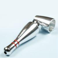 76mm Metal Smoking Pipe Aluminium Alloy Bottle Shape Solid Color Filter Pipes Luster Detachable Bongs 5 Colour Men New Arrival 3 8shc G2