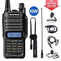 BAOFENG UV-9R PLUS IP68 Walkie Talkie 10W Impermeable Doble Banda Doble Portátil CB Caza Radio UV 9R Plus HF Transceiver 9R