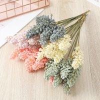 6 adet / paket lavanta yapay çiçek toptan bitki duvar dekorasyon buket malzeme manuel dly sevgililer günü hediyesi aksesuarları