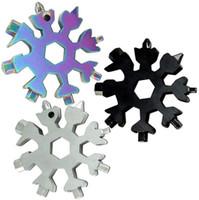 18 in 1 Acciaio inossidabile Acciaio inossidabile Multi-utensile Cacciaviti per snowdriver Wrench Opener Apriscatole Catena Key MultiTool Card Outdoor Survive Tool Camping Strumento E102902