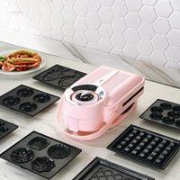 Ekmek Makineleri 650 W Elektrikli Sandviç Makinesi Zamanlama Waffle Toaster Baker Kahvaltı Makinesi Takoyaki Pancake Donuts Sandwichera 220v1