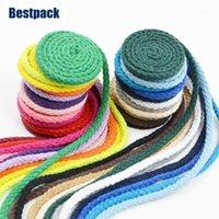 工芸機械10メートル/ロト1のための5mm手作り編組綿ロープ22色の装飾的な巾着コード