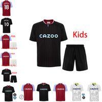 Jersey de football Aston Villa 2021 10 Jack Grealish Set 14 Conor Hourihane 21 Anwar El-Ghazi 6 Kits de chemise de football Douglas Luiz Wesley