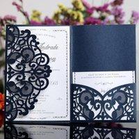 Tarjetas de felicitación 10 unids Halloween Fiesta Invitaciones Láser Cut Boda Tri-Fold Lace Invitación de negocios Decoración 1