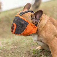 Animal de compagnie respiratoire masque petit animal de compagnie muzzles français bouledog museau chien de souris panier respirable chien muselza harness robinets 201102