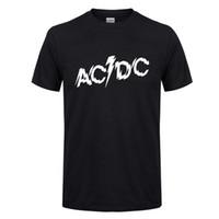 夏2020 ACDCバンド半袖コットンラウンドネックファッションメンズTシャツ韓国の若者