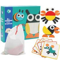 بانوراما ال Tangram ألعاب خشبية للأطفال الأطفال ألعاب الذكاء ال Tangram التعليمية شكل لغز لعبة كتل بنين بنات هدية للأطفال
