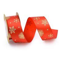 5 Yards / Roll 25mm Groen Afdrukken Zijde Satijn Linten Boog Party Handwerk Kerst DIY Stof Lint Crafts Gift Wikkelen JllGew