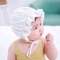 الكورية الطفل قبعة نجمة ختم الأطفال الدانتيل الأميرة قبعة الطفل الربيع والصيف الدانتيل القصر قبعة الشمس القبعات للأطفال