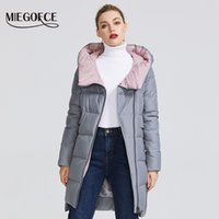 MIEGOFCE Kış Koleksiyonu Kadın Sıcak Ceket Yapımı ile Hood Coat 201.008 ile Real Bio Parka Kadınlar Windproof Stand-up Yaka