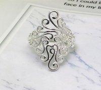 925 anello d'argento esagerazione Retro nuvole di buon auspicio anello per le donne di moda nozze gioielli regalo formato 25mm * US6-US10