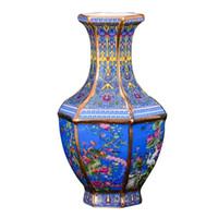 Antika Kraliyet Çin Porselen Vazo Dekoratif Çiçek Vazo Düğün Dekorasyon Pot Için Jingdezhen Porselen Vazo Noel Hediyesi LJ201209