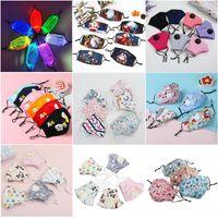 máscaras reutilizáveis laváveis 7 cores LED luminoso máscara facial mascaram 5 Camada crianças PM2.5 filtro de máscara de adultos para Festival festa de Natal