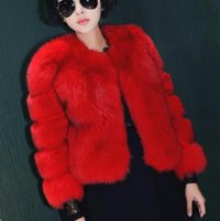 delle donne Urumbassa Faux cappotto di pelliccia di moda riscaldato pelo corto primavera / autunno / inverno più il formato XXXL giacche