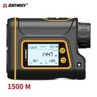 SNDWAY جديد 6x الغولف المدى مكتشف قابلة للشحن الليزر rangefinder الليزر قياس الرقمية شاشة lcd المسافة متر سارية الماركة قفل T200603
