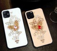 Caixa do telefone da moda para IPhone 12 Mini 12 / 12pro 12promax 11 / Pattern 11Pro / 11Pro borboleta Max com strass capa protetora