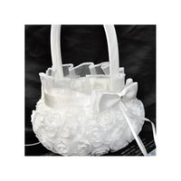 New Design Design Wedding Party Decoration Satin Burlap Bowknot Rose Flower Basket Flower Girls Basket Matrimonio Jllbor Bdebag
