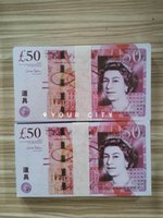 50 Pfund Film Realistische Requisite Best UK Dollar Pfund Münze Requisiten Bar Prop-Geld Die meisten Euro Geld Geld 20 100pcs / paket SDXRK