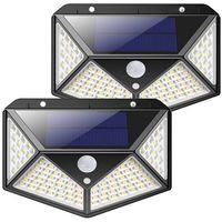 Lámparas de pared solar 100 China Power Impermeable Home Outdoor Gate Cerca Pathway Garden Street COB LED Motion Sensor Light
