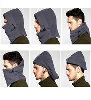 الشتاء الصوف القطبية قبعة صغيرة قبعة وشاح قطعة واحدة أقنعة متعددة الوظائف أغطية الرأس كامل الوجه قناع تزلج أقنعة الرأس الفرقة Earmuff وقبعات F102103