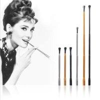 Venda quente Portátil Ajustável Longo Cigarro Retrátil Titular Fumar Liga de Alumínio Longa Cigarro Acessórios para fumar