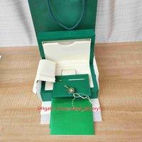 Горячие продажи высококачественные часы ящики высококачественные зеленые часы оригинальные коробки бумаги карты большой сертификат сумка 0,8 кг для 126610 126710 124300 наручные часы