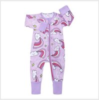 Baby romper  clothes kids newborn round neck zipper jumpsuit spring and autumn thin baby girl  clothes