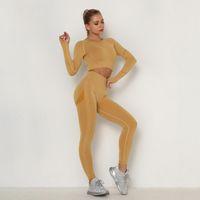 Леггинсы спортивные бюстгальтеры йога высокой талии Йога Брюки Плотные леггинсы вершины тренировки леггинсы гимнастики одежды женщины тренировки фитнес йога наборы
