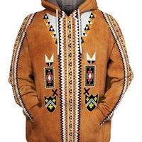 Vente chaude native indienne 3D Sweats à Sweatshirts Hommes Femmes Nouvelle Mode Hiver Hiver Hiver Automne à manches longues Streetwear Pull-5 Y201001