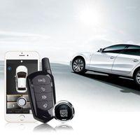 Sistema de alarma de seguridad de automóvil de protección contra robos con inicio remoto y entrada sin llave de bloqueo central para el botón de parada1
